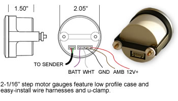 SCX Stepper  Motor Case Dimensions