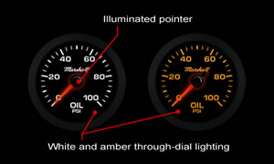 White Through-Dial Lighting