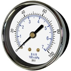 102D Utility Gauge, Center Back Mount