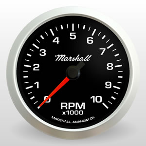 "3-3/8"" Tachometer Comp II LED from Marshall Instruments"