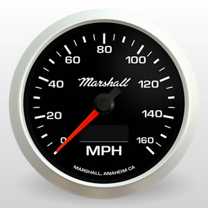 "3-3/8"" Speedometer Comp II LED from Marshall Instruments"