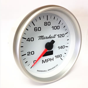 5 Inch In-Dash Speedometer (2254), 0-160 MPH, Full Sweep Electric