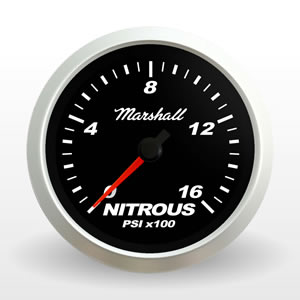 SCX Nitrous Pressure Gauge.  Black Dial.  Full-Sweep Electric  Nitrous Pressure Gauge