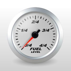 SCX Full Sweep Electric Fuel Level Gauge, Silver Dial
