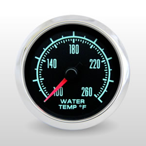 Water Temperature.  60s Muscle - 1969 Camaro Style Performance Gauge