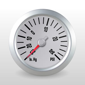 MINI Cooper Boost Gauge with Stepper Motor, Peak Recall and Programmable Warning