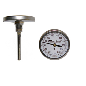 2 in. Dial Bimetal Thermometer from Marshall Instruments.