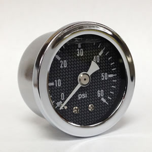 "Marshall CF00060.  1.5"" Direct Mount Fuel/Air/Oil/Water Pressure Gauge.  Liquid Filled, 1/8"" NPT Connection."