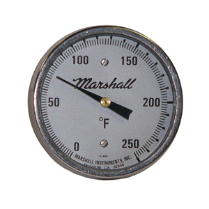 5 in. Bimetal Thermometer from Marshall Instruments