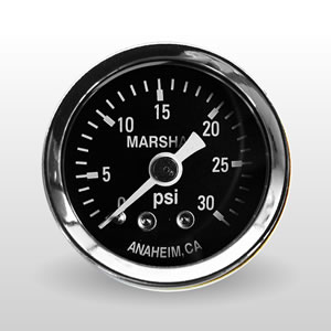 Marshall 0-30 PSI Dry Direct Mount Mechanical Gauges from Marshall Instruments