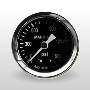 Marshall 0-1500 PSI Dry Direct Mount Mechanical Gauges from Marshall Instruments