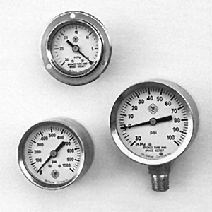 "Model J7 - 2 1/2"" Dial McDaniel Pressure Gauges from Marshall Instruments"