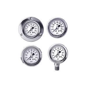 "McDaniel 2"" All Stainless Steel Gauges, 1/4"" NPT Connection, Fillable, Repairable"